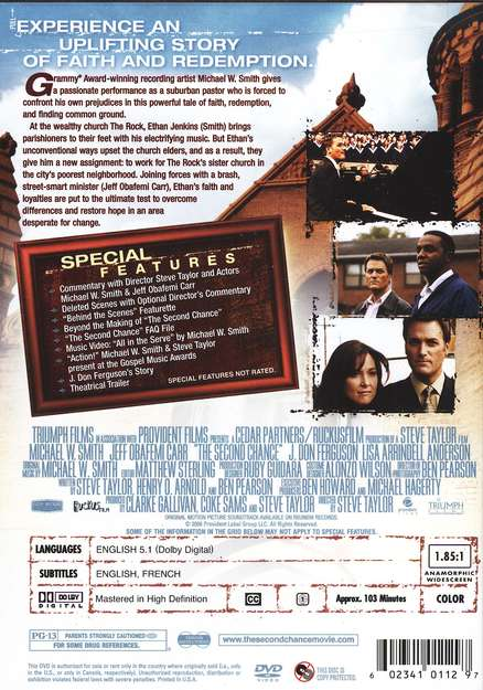 The Second Chance, DVD