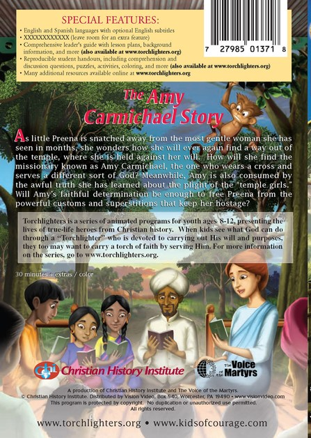 The Torchlighters Series: The Amy Carmichael Story, DVD