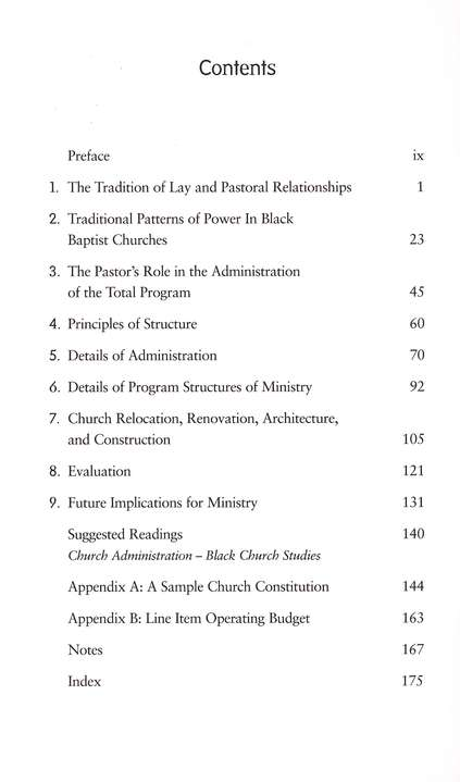 Church Administration in the Black Perspective Revised Edition