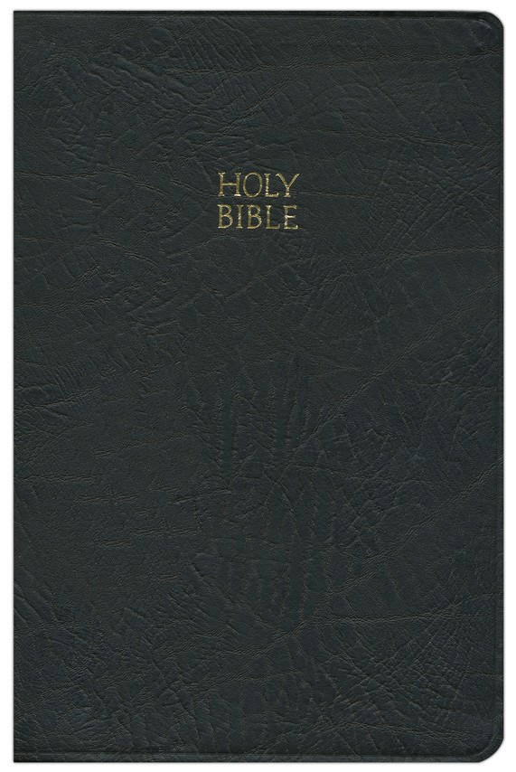 NKJV Giant Print Center-Column Reference Bible, Bonded leather, black