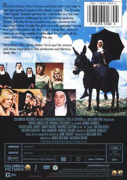 Where Angels Go, Trouble Follows (1968), DVD