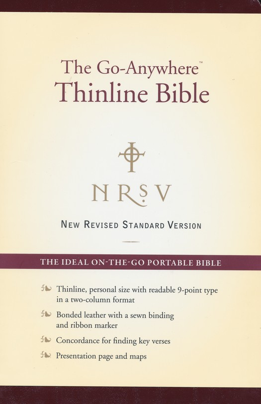 NRSV Go-Anywhere Personal Size Thinline Bible, Bonded  Leather, Burgundy