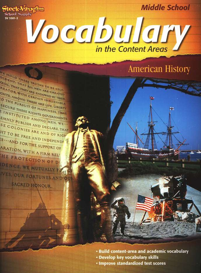 Vocabulary in the Content Areas, American History Middle School