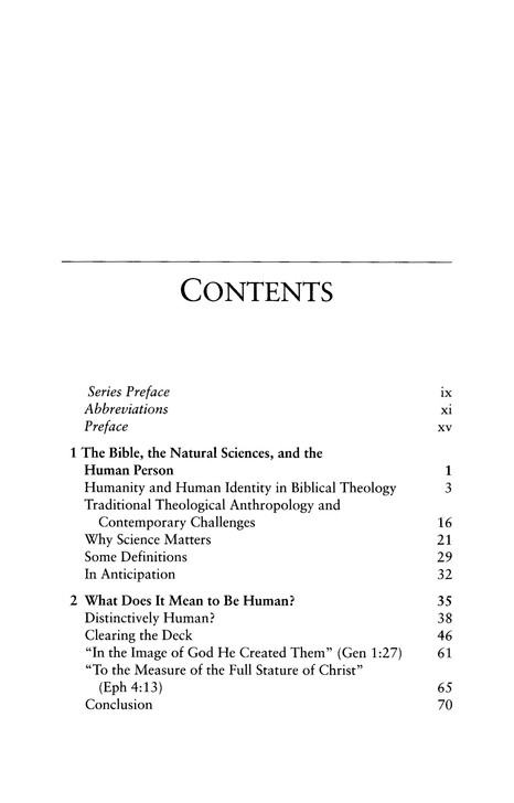 Body, Soul, and Human Life: The Nature of Humanity in the Bible