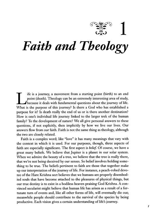 Introduction to Christian Theology.
