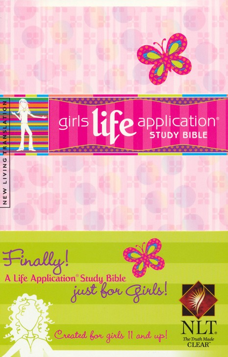 NLT Girls Life Application Bible - Softcover