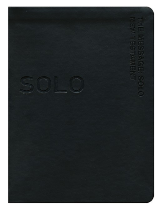 The Message Remix Solo New Testament, Black Imitation  Leather