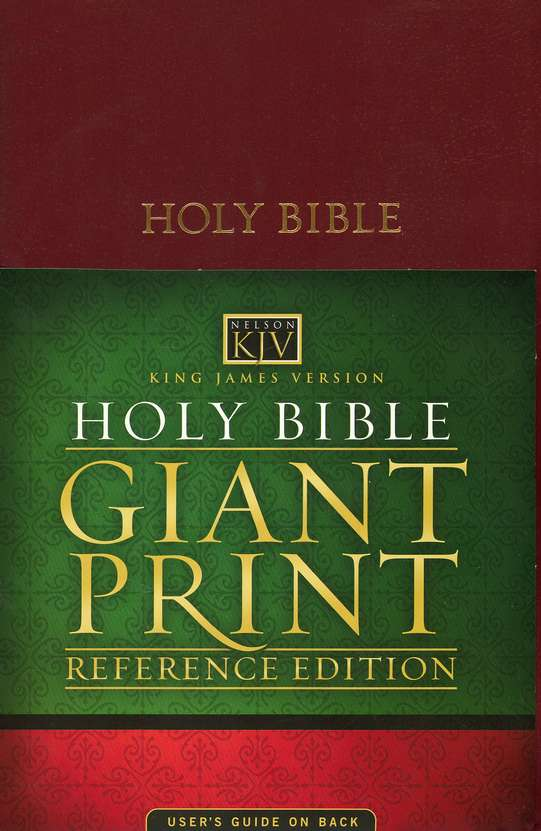 KJV Giant Print Bible, Imitation Leather, Burgundy