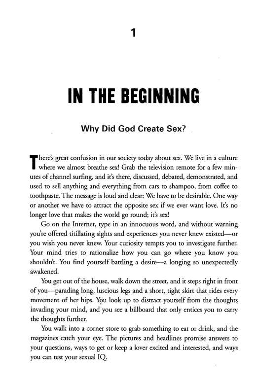 The Truth About Sex; What the World Won't Tell You and God Wants You to Know