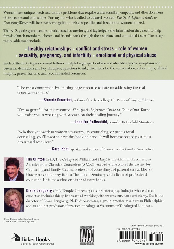 The Quick-Reference Guide to Counseling Women