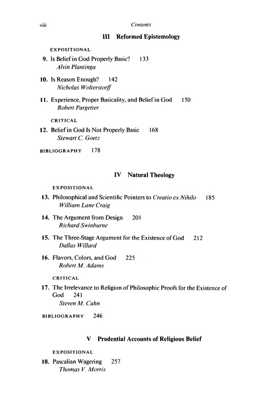 Contemporary Perspectives on Religious Epistemology
