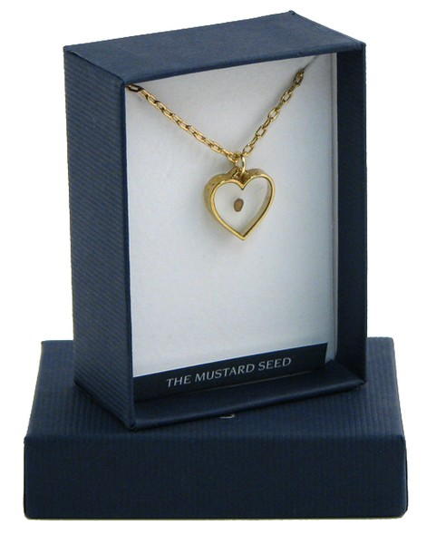 Mustard Seed Heart, Gold-plated Pendant