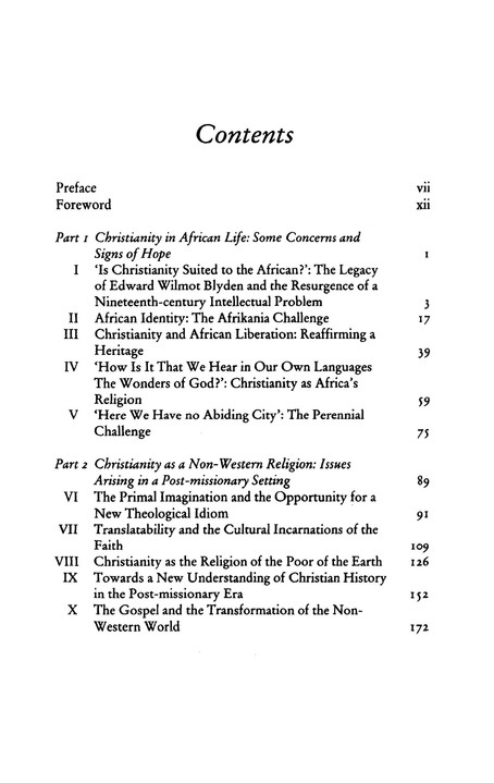 Christianity in Africa: The Renewal of Non-Western Religion