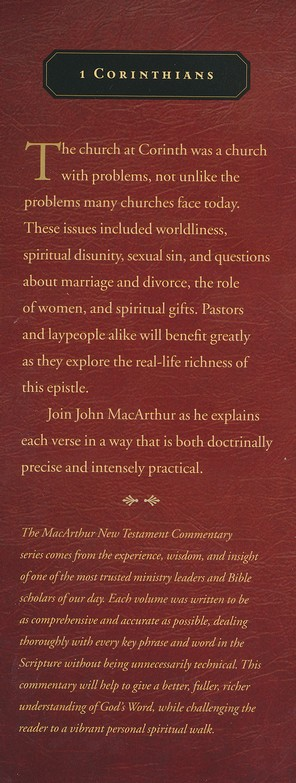 1 Corinthians: The MacArthur New Testament Commentary