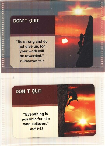 Don't Quit; FaithBuilders Cards, Pack of 20