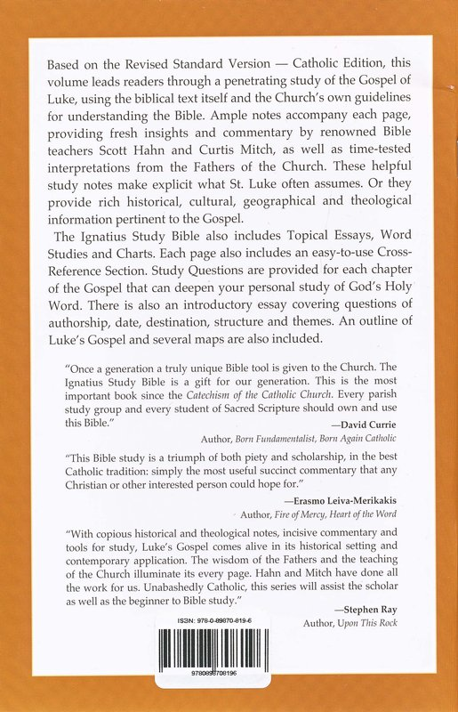The Gospel According to Luke -   The Ignatius Catholic Study Bible