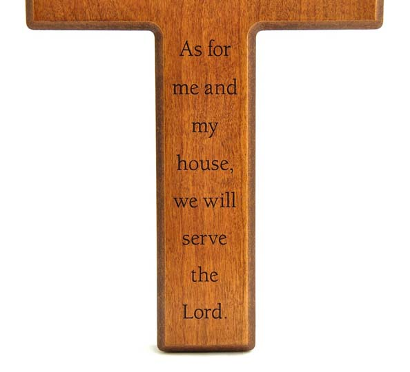 Personalized, As For Me And My  House Wall Cross Cherry