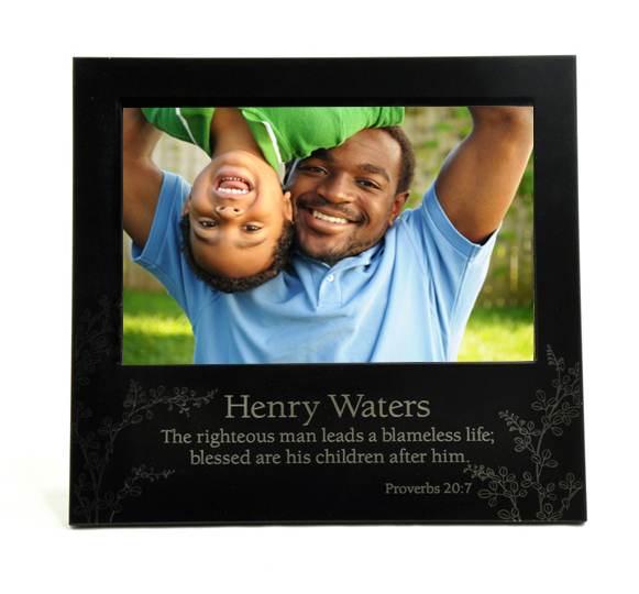 Personalized, Righteous Man Photo Frame