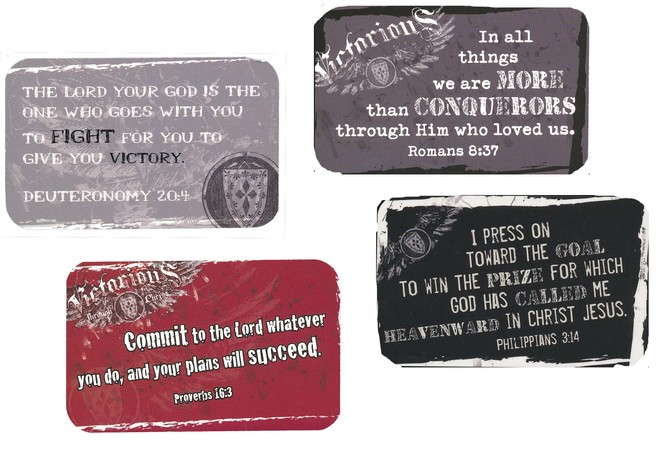 Faithbuilders Witness Gear Devotion Cards, Victorious Through Christ