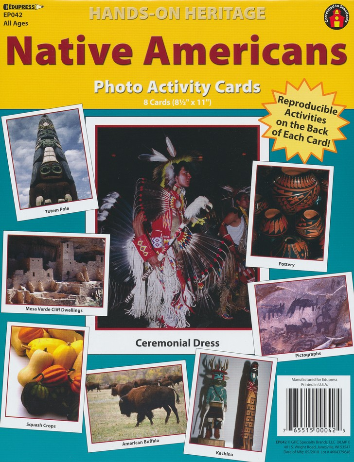 Native Americans Photo Activity Cards