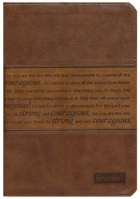 Journal, Strong and Courageous, Brown