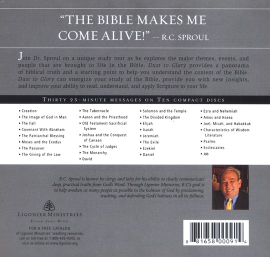 Dust to Glory: An Overview of the Bible with R.C. Sproul CD