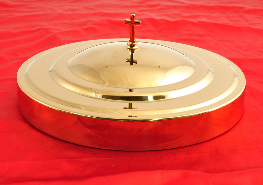 Brasstone Communion Cup Tray Cover