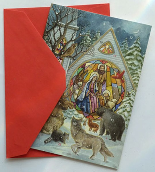 Church Windows: Greeting Card Advent Calendar