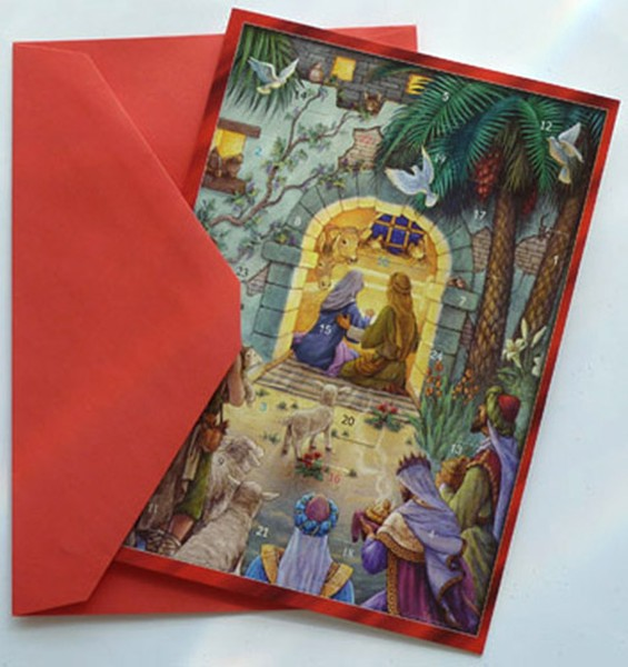 Nativity: Greeting Card Advent Calendar
