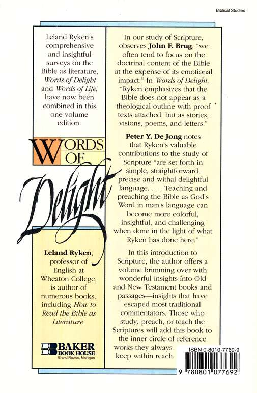 Words of Delight, 2d ed.: A Literary Introduction to the Bible