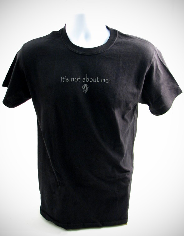 It's All About Him T-Shirt, Black, Large (42-44)