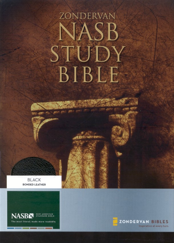 NAS Zondervan Study Bible, Bonded leather, Black, Thumb-indexed