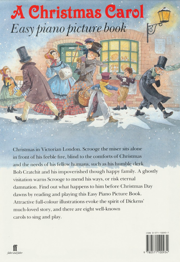 A Christmas Carol: Easy Piano Picture Book