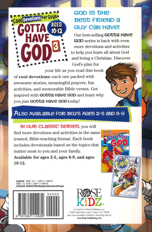 Gotta Have God Boys Devotional Vol 3, Ages 10-12