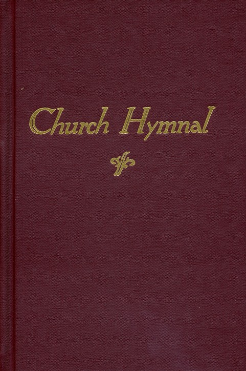Church Hymnal, hardcover, maroon red