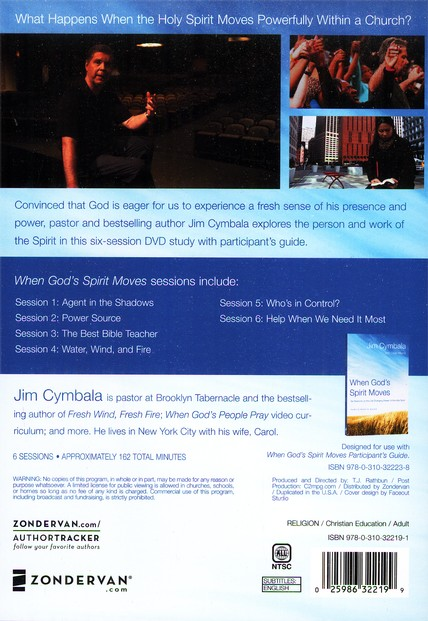 When God's Spirit Moves: DVD, Six Sessions on the Life-Changing Power of the Holy Spirit