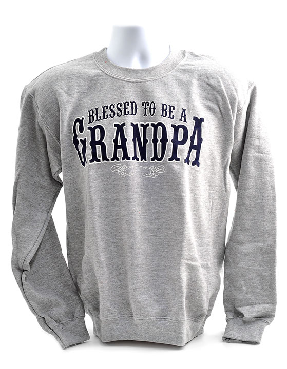 Blessed to Be a Grandpa, Sweatshirt, Medium (38-40)