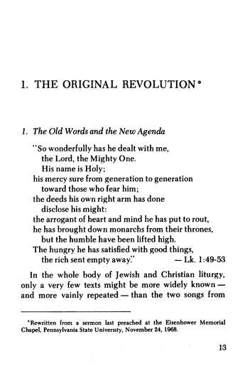 The Original Revolution Essays on Christian Pacifism