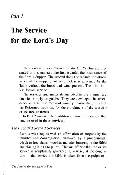 A Manual of Worship