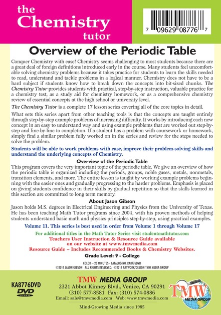 Overview of the Periodic Table DVD