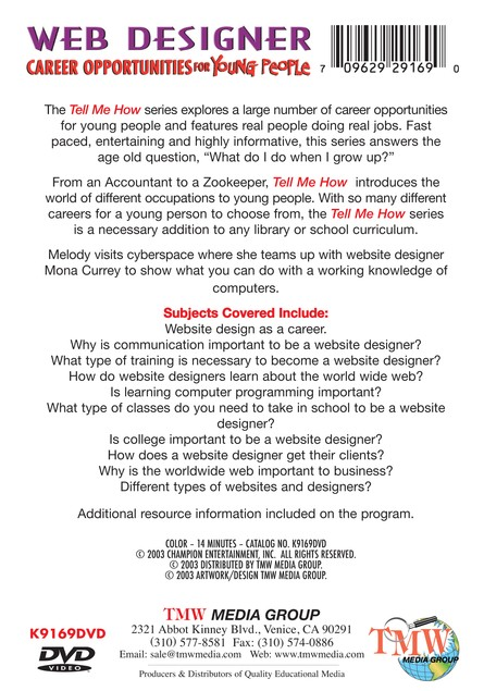 Tell Me How Career Series: Website Designer DVD