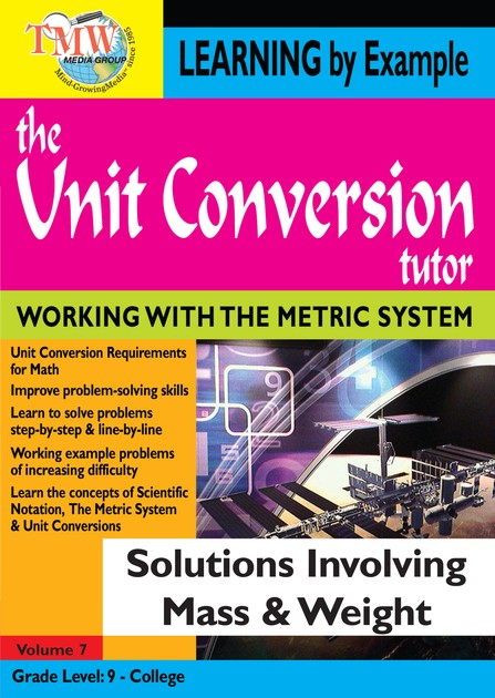 Unit Conversion Tutor: Solutions Involving Involving Mass and Weight DVD