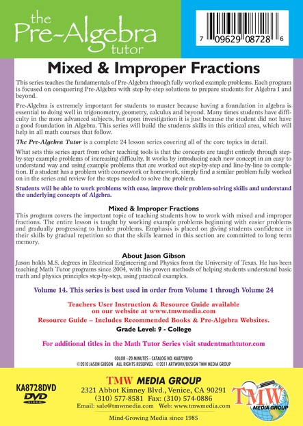 Mixed & Improper Fractions DVD
