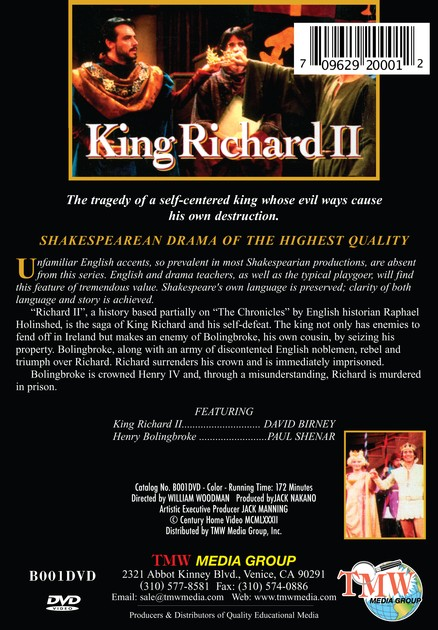 Shakespeare Series: King Richard II DVD
