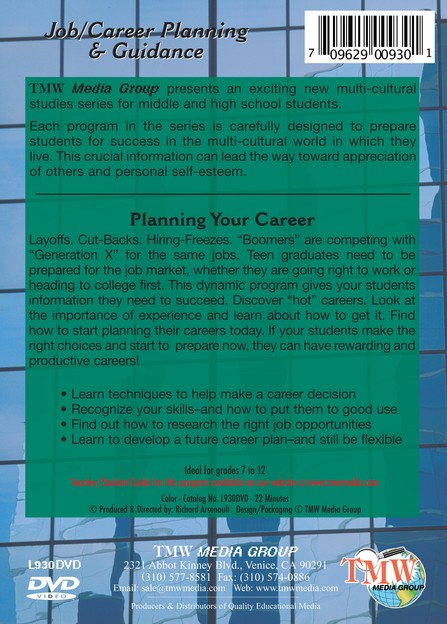 Career Planning Series: Planning Your Career DVD