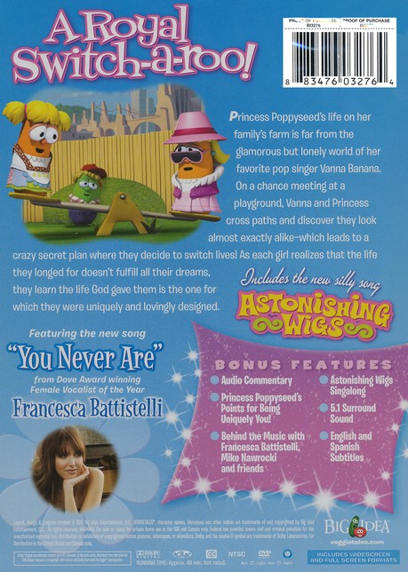 Princess and the Pop Star - VeggieTales DVD