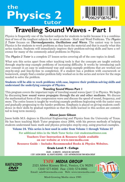 Traveling Sound Waves Part 1 DVD