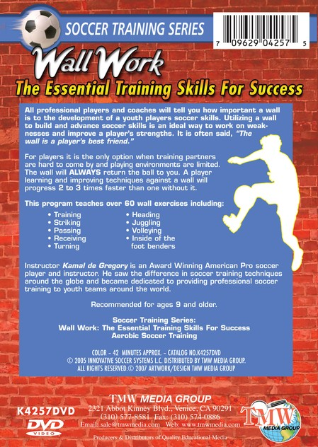 Soccer Training Wall Work DVD