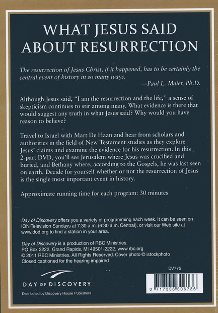 What Jesus Said About Resurrection: Can it Happen - DVD