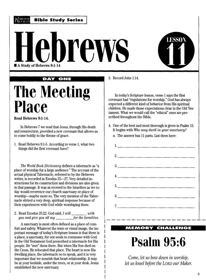 Hebrews Part 2, Covenant of Faith: Wisdom of the Word Series